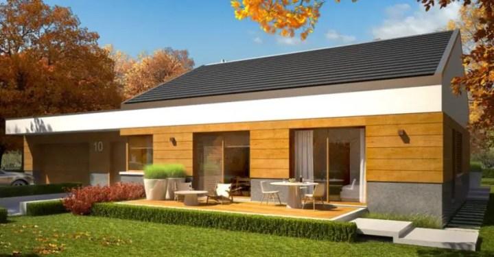 cele mai frumoase case fara etaj Single story modern house plans 8