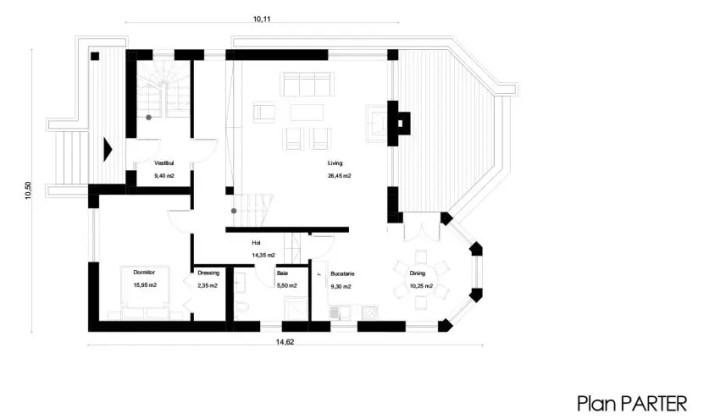 proiecte de case cu demisol Semi basement house plans 12