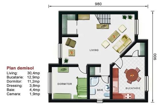 proiecte de case cu demisol Semi basement house plans 8