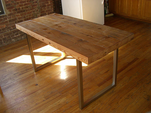 Construirea unei mese din lemn How to make a wood table 11
