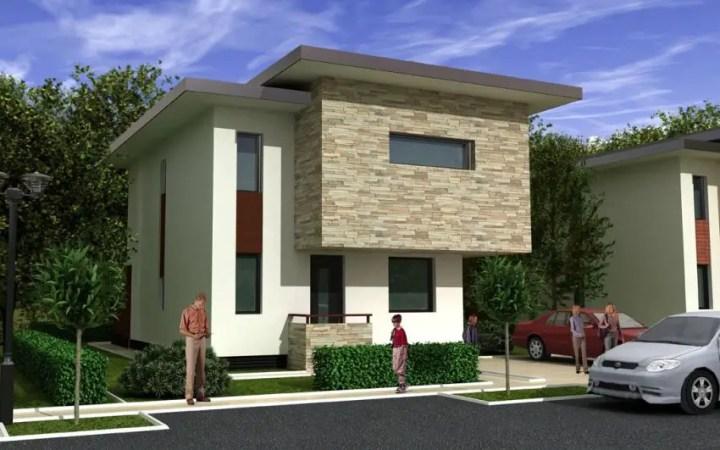 Proiecte de case cu structura metalica moderne