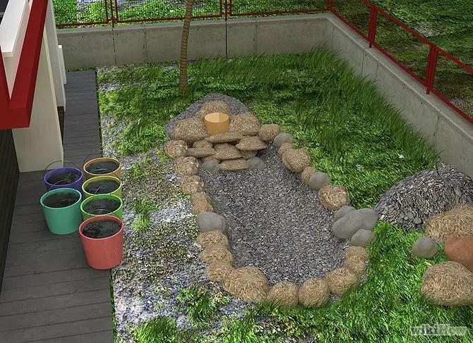 construirea unei cascade de gradina how to build a pond with waterfall 4