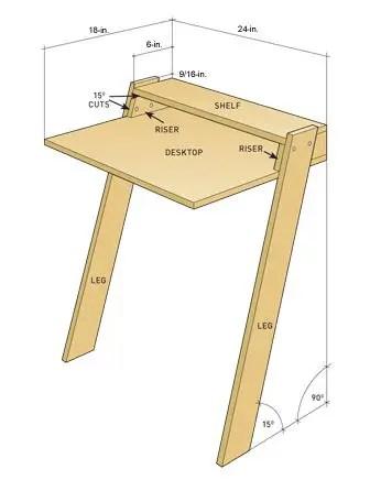 construirea unui birou how to build a desk 9