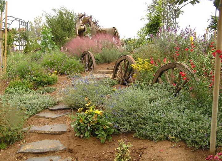 gradini rustice cu piatra using stone in rustic gardens 8