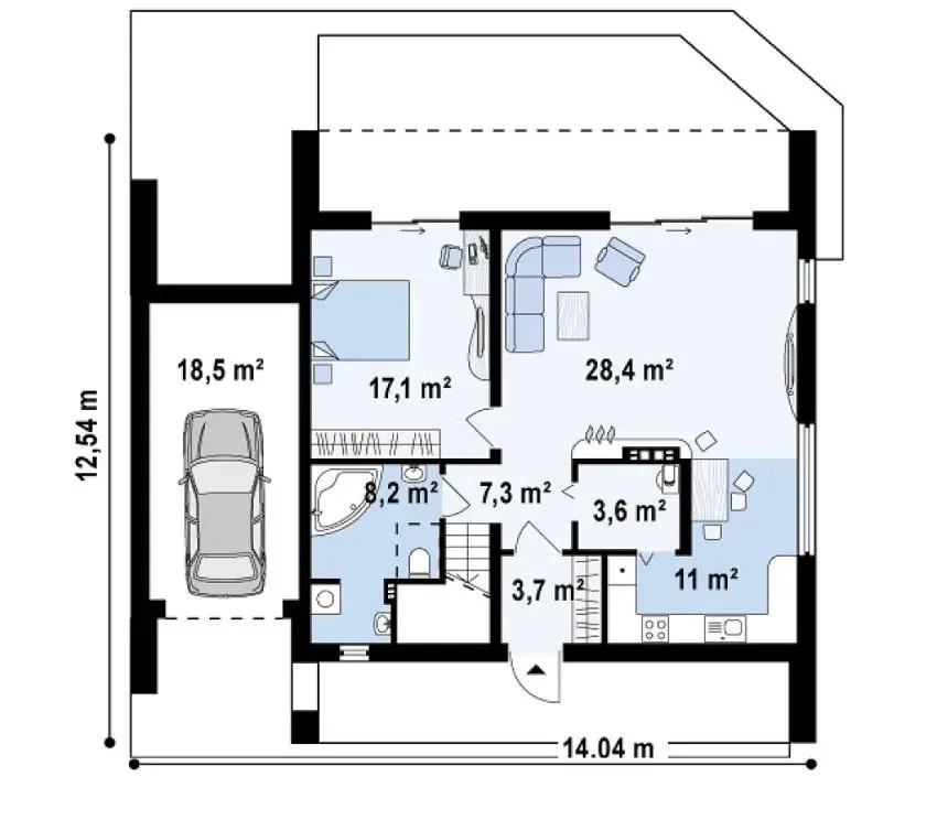 modele de case cu si fara etaj one and two story house plans 5