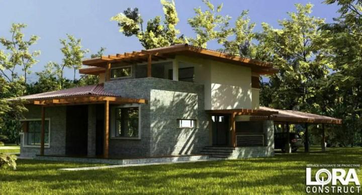 Proiecte de case cu doua nivele practice