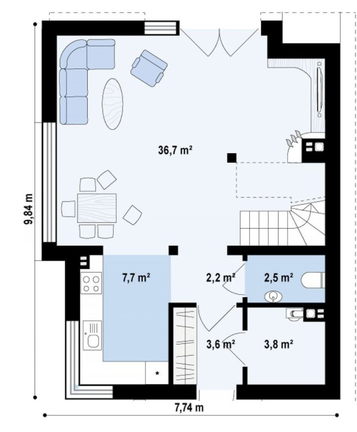 proiecte de case de 100 de metri patrati 1,000 square feet house plans 6