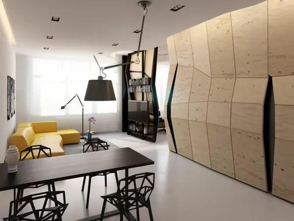 transformarea unei garsoniere in apartament transforming a studio apartment 5