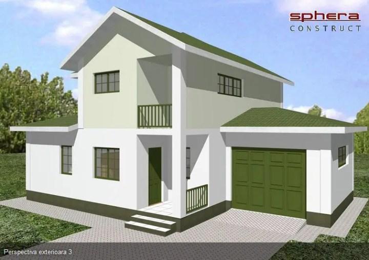 Proiecte case medii cu mansarda si garaj medium size house plans 6