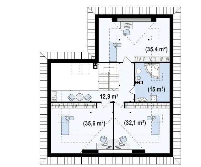 case cu lucarne Dormer window house plans 3