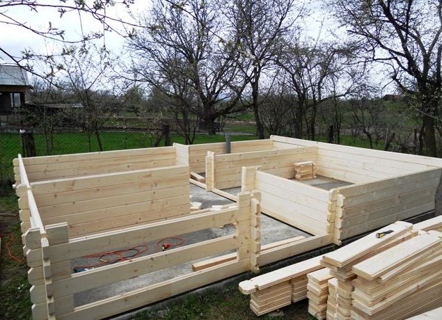 Constructia unei case din lemn pas cu pas si rapid