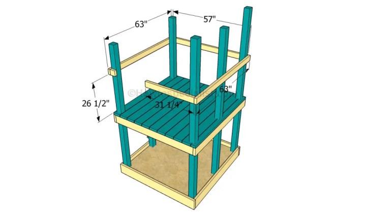 constructia unui mic loc de joaca pentru copii How to build an outdoor wooden playground 5