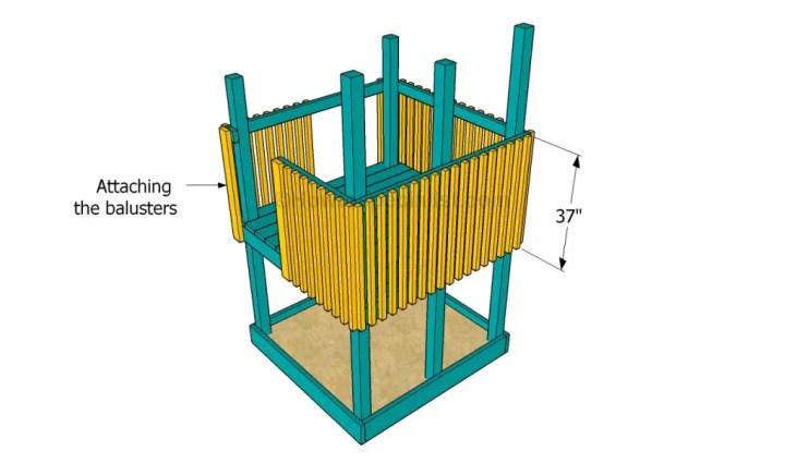 constructia unui mic loc de joaca pentru copii How to build an outdoor wooden playground 6