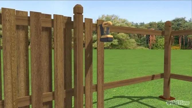Construirea unui gard de lemn acasa