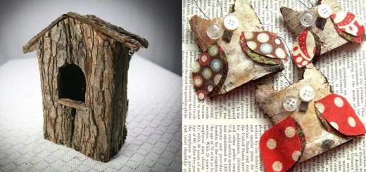 Decoratiuni din scoarta de copac acasa