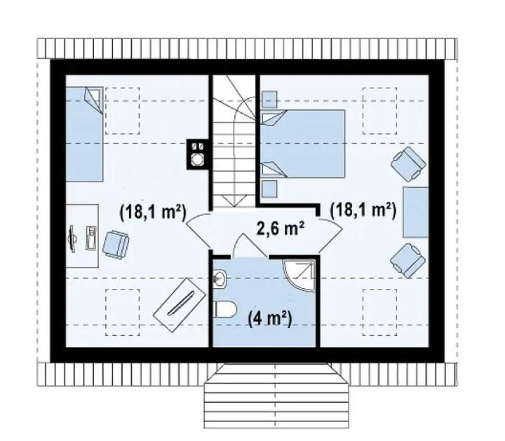 proiecte de casa cu scara interioara Interior staircase house plans 3