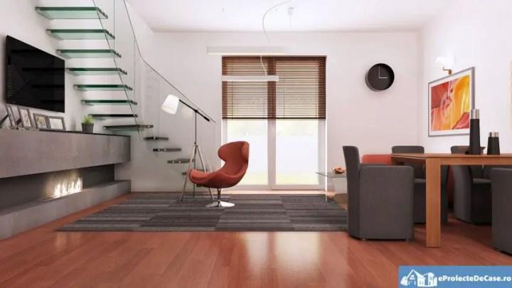 proiecte de casa cu scara interioara Interior staircase house plans 4