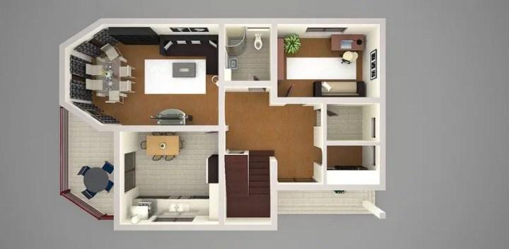 proiecte de case cu trei dormitoare Three bedroom house plans 11