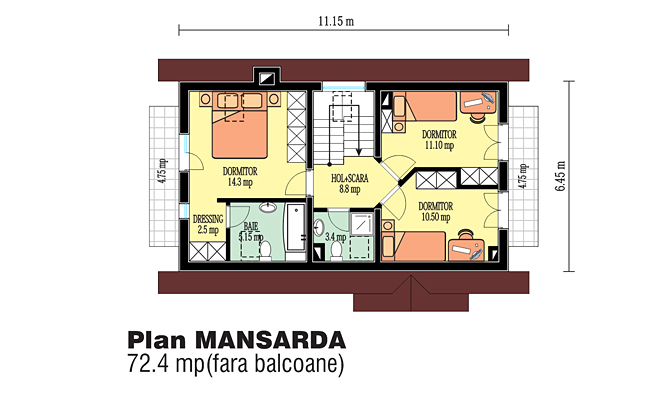 proiecte de case din barne Timberframe house plans 10
