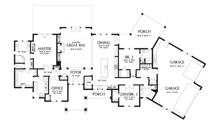 proiecte de case din piatra si lemn Wood and stone house plans 10