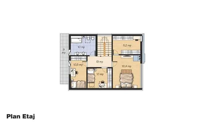 proiecte de case din piatra si lemn Wood and stone house plans 7