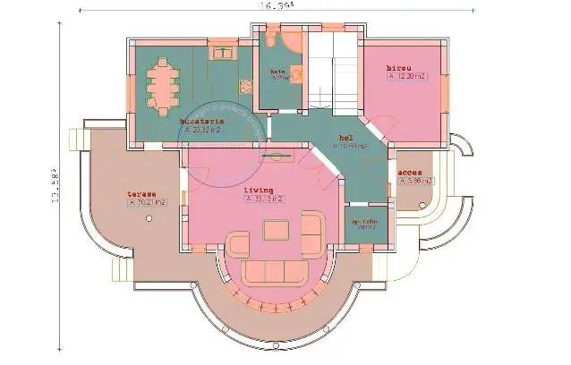 case cu balcon rotund round balcony house plans 4