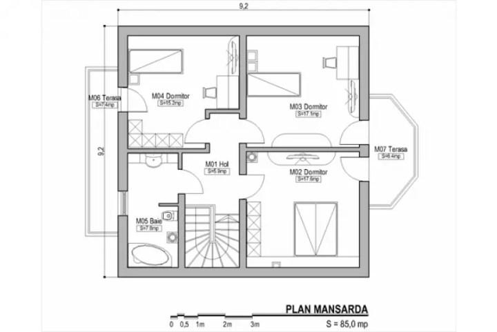 case cu bovindou Bay window house plans 8