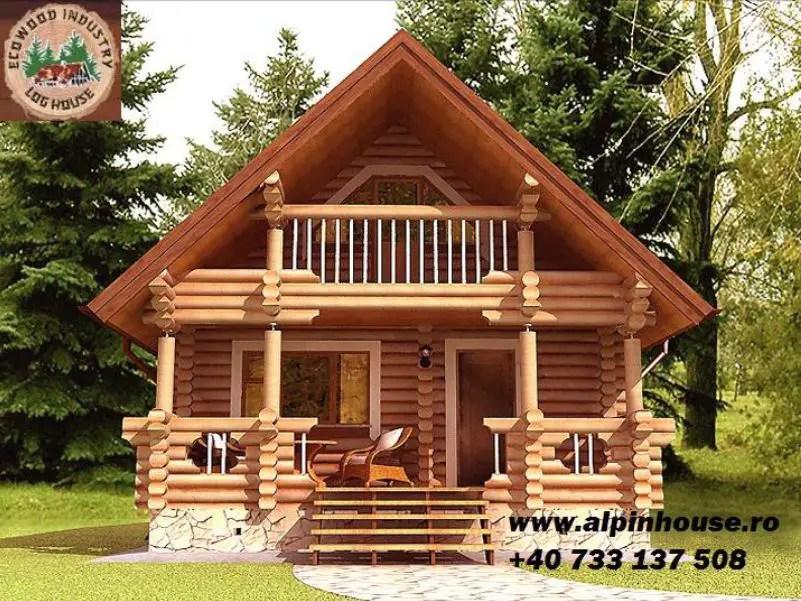 case ieftine din lemn rotund mai aproape de natura
