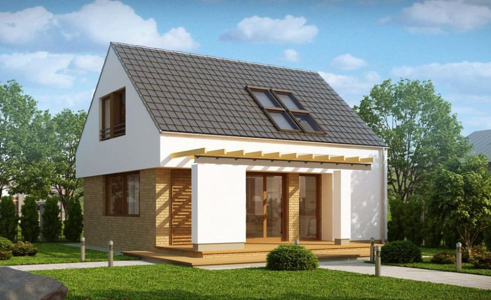 Case moderne mici, cu mansarda la oras