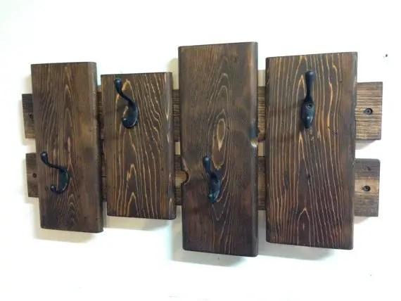 cuiere rustice din lemn Rustic wood coat racks 12