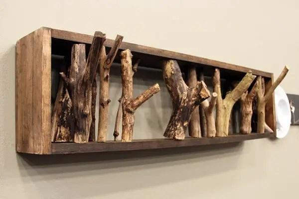 cuiere rustice din lemn Rustic wood coat racks