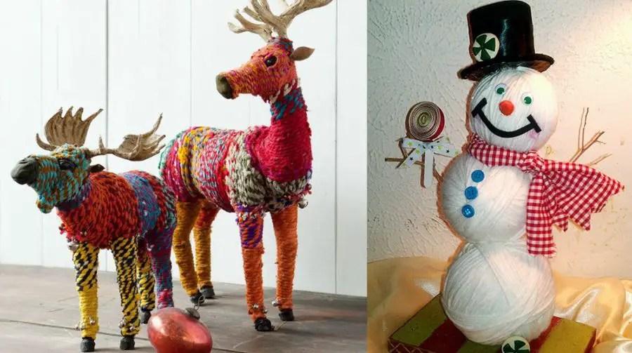Decoratiuni de iarna facute manual acasa