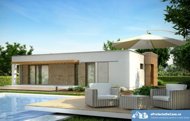 one story flat roof house plans | amazing house plans