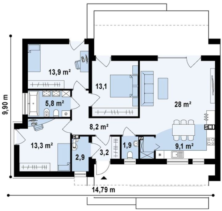 proiecte de case tineresti House plans for young families 3