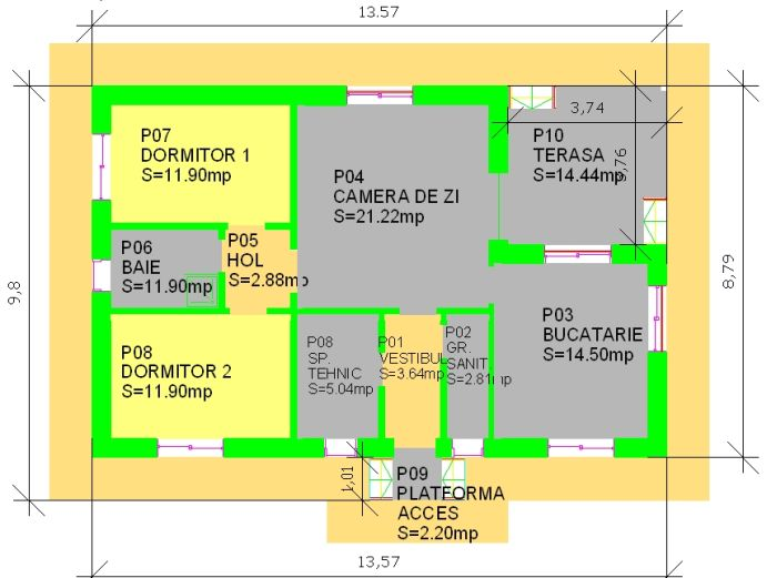 case cu terasa in spate Back patio house plans 10