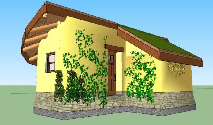 case ecologice construite din lut Natural cob houses 10