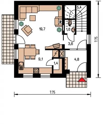 case pe structura usoara Light frame house plans 11