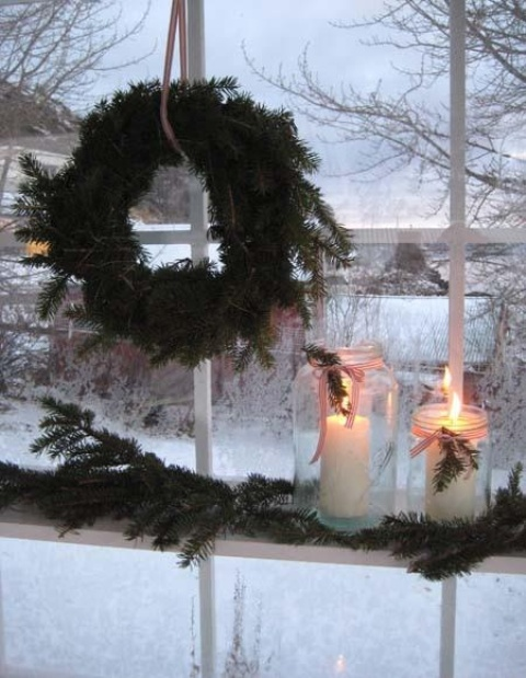 decorarea geamurilor de craciun Christmas window design ideas 7