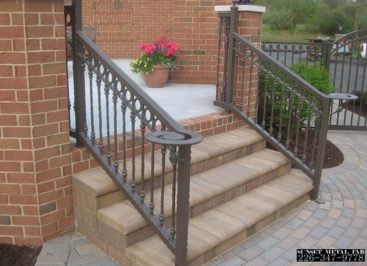 Exterior Wrought Iron Stair Railings Personalized Shapes | Outdoor Iron Staircase Designs | Gallery | Outdoor Balcony | Exterior | Curved Staircase Carpet | Wooden Staircase