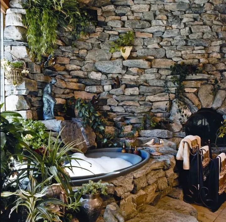bai decorate cu piatra stone bathroom ideas 14