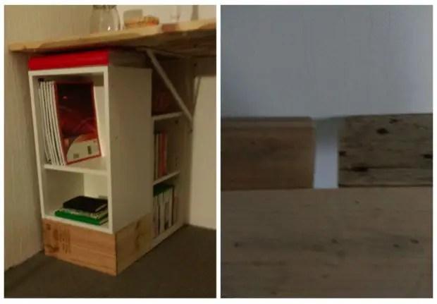 birou din paleti Wood pallet desks 10
