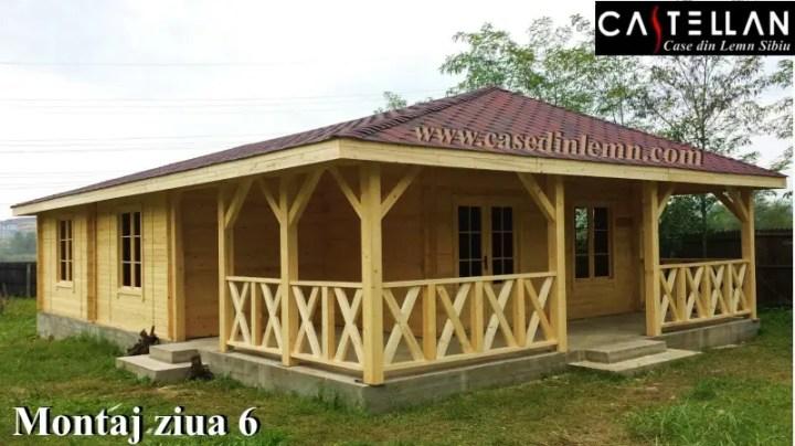 Case cu veranda din lemn in fata