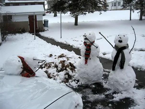 cei mai frumosi oameni de zapada Most creative snowmen 15