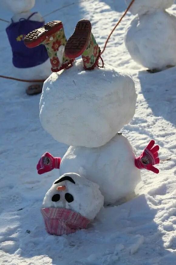 cei mai frumosi oameni de zapada Most creative snowmen