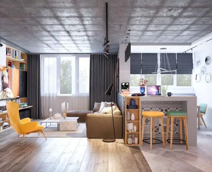 galbenul in design interior yellow accents in interior design 7
