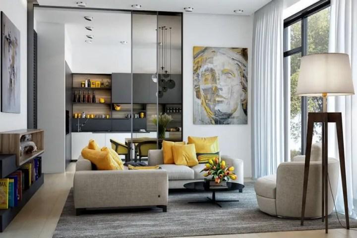 galbenul in design interior yellow accents in interior design
