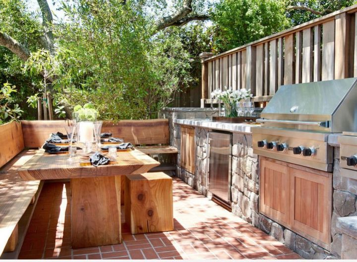 mese din lemn pentru terase Outdoor wooden tables 13