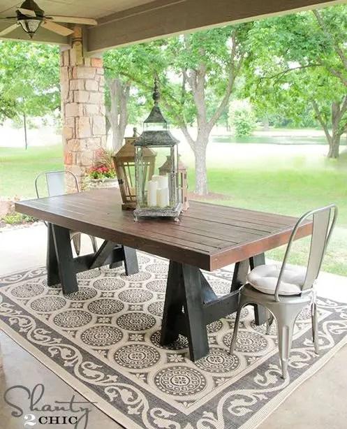 mese din lemn pentru terase Outdoor wooden tables 16
