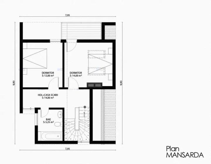 proiecte de case mici cu structura metalica Small steel frame house plans 4
