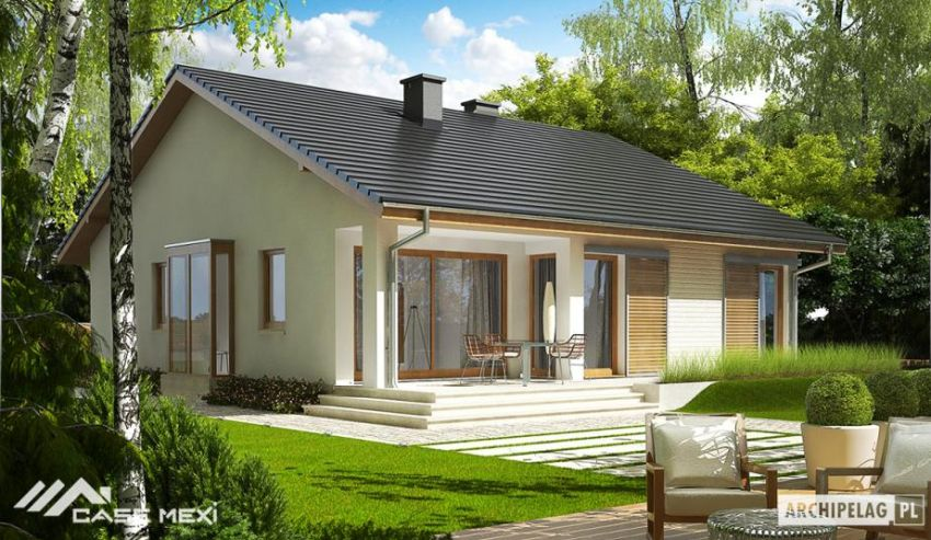Proiecte de case mici cu structura metalica spatii in for Small metal house plans
